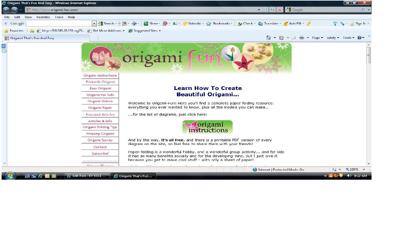 website of the week � origami fun learning resource